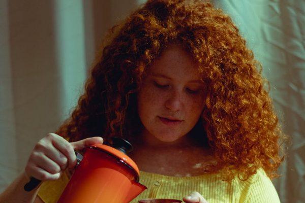 herbata z imbirem i pomarańczą